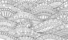 Boho Pattern For Background, Decorations,banner,coloring Book,cards And So On - Vector