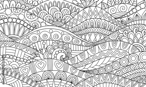 Fototapeta Boho pattern for background, decorations,banner,coloring book,cards and so on -