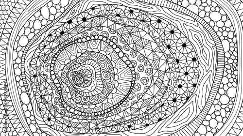 - Line Art Abstract Zentangle-inspired Design For Background, Adult Coloring  Book,coloring Page And So On. Vector Illustration - Buy This Stock Vector  And Explore Similar Vectors At Adobe Stock Adobe Stock