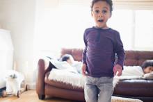 Portrait Playful Toddler Boy M...