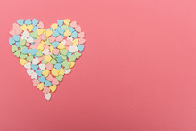 Colorful Heart Shaped Candy On...