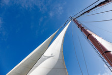 Sailboat Sail And Mast Under S...