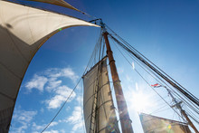 Wooden And Mast And Sailboat S...