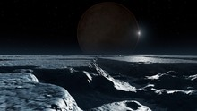 Artwork Of Pluto Seen From Cha...