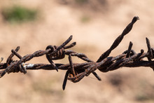 Old Barbed Wire That Has Been ...