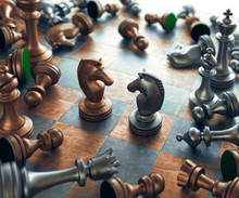 Chess Pieces On Chess Board, I...