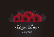 Anzac Day 25th Of April Vector...