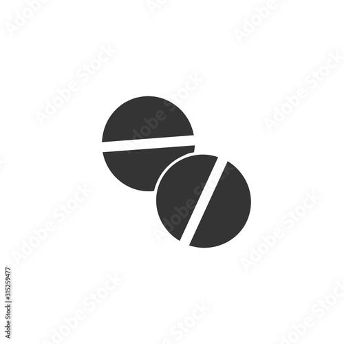 Fototapeta medicine icon vector solid grey obraz na płótnie