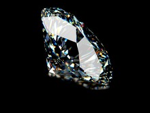 Diamond On Black Background, I...