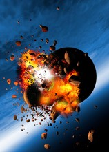 Asteroids Colliding With A Pla...