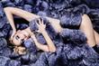 Leinwanddruck Bild - seduction and fur fashion