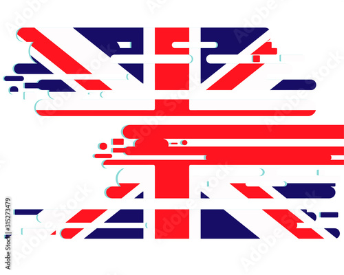 Great Britain flag in grunge style Canvas Print