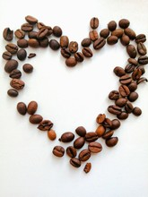 Heart Made Of Coffee Beans Iso...