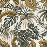 Tropikalny kwiatowy wzór liści palmowych liści bezszwowe szary wzór tła. Tapeta egzotycznej dżungli. - 315282819