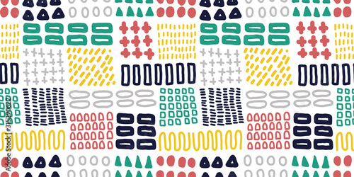 Obraz Abstract illustration background. Seamless pattern. Vector. 抽象的なイラストのパターン - fototapety do salonu