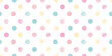 Dot Illustration Background. Seamless Pattern. Vector.ドットイラストのパターン