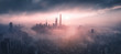 canvas print picture - Panoramic view of Shanghai Skyline
