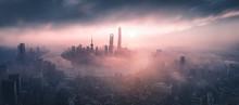 Panoramic View Of Shanghai Sky...