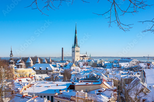 Old town skyline. Tallinn, Estonia Wallpaper Mural