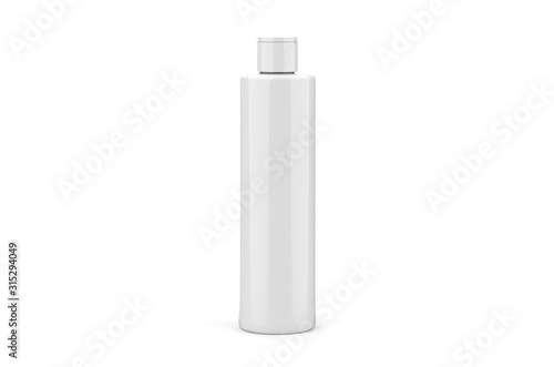 Cosmetic bottle mock up template on isolated white background Canvas Print