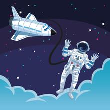Astronaut Outside Spacecraft C...