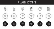 Plain Icons Set
