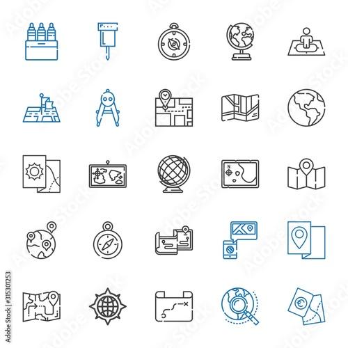 Fotografía  cartography icons set