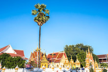 Temple In Nakhon Phanom Is Near The Banks Of The Mekong River