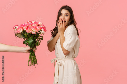 Foto Valentines day, delivery and beauty concept