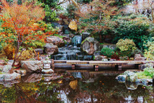 Kyoto Garden, A Japanese Style Garden With A Waterfall In Holland Park In London