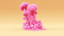 Pink Explosion Large Warm Cream Background 3d Illustration 3d Render