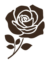 Decorative Rose With Leaves. F...