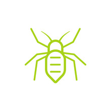 Aphid Insect Pictogram. Clipart Image Isolated On White Background