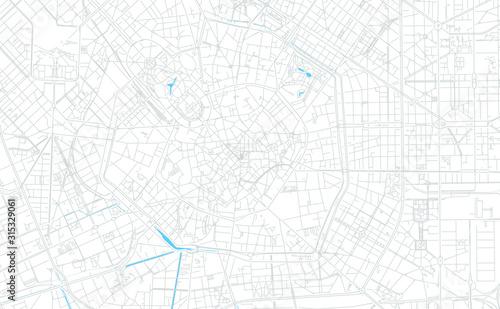 Valokuva Milan, Italy bright vector map