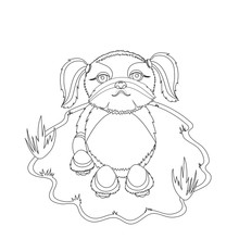 Shih Tzu Dog Coloring Picture....