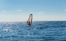 Beautiful View Of Windsurfer S...