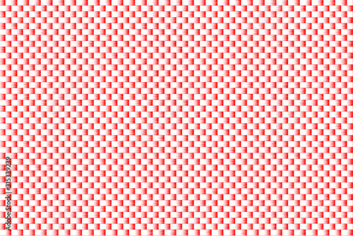 ripple Red and white color abstract background Reflector pattern texture Fototapet