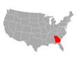 Karte von Georgia in USA