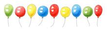 Set Of Watercolor Birthday Bal...
