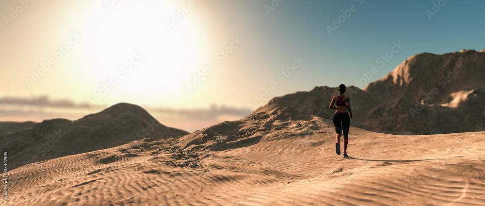 Fototapeta woman running