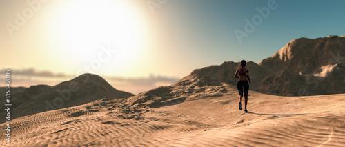 fototapeta na szkło woman running