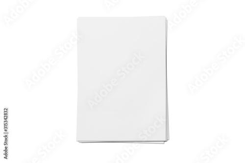 Fototapeta Blank letterheads isolated on white background obraz