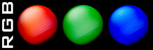 RGB. Red, Green And Blue Spher...