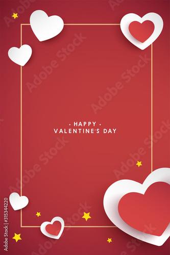 Fototapeta vector valentine's day cards templates obraz
