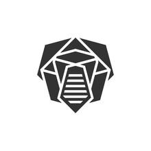 Trooper Mask Logo Design Vector