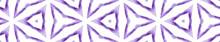 Purple Kaleidoscope Seamless Border Scroll. Geomet