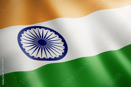 flag of india Canvas Print