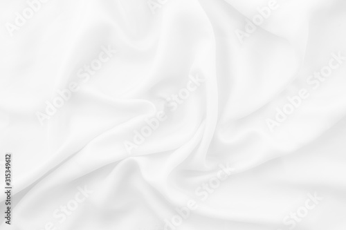 Abstract luxury white fabric texture for design backdrop Canvas Print