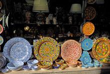 Colorful Ceramic Plates, Taormina, Sicily, Italy
