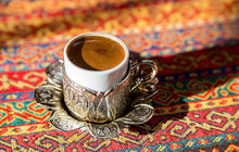 Cup Of Turkish Black Coffee In...